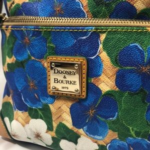 Dooney & Bourke Blue White Floral Crossbody Bag